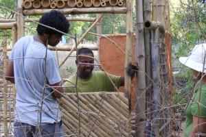 Bamboo Construction and garden work